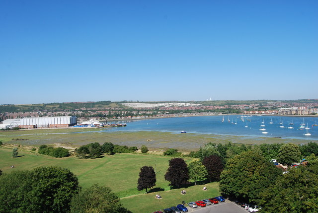 The view north-northeast from Portchester Castle (1)