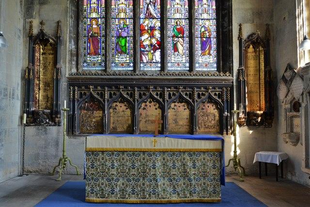 North Marston, St. Mary's Church: The altar 1