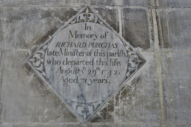 North Marston, St. Mary's Church: Richard Purchas memorial in the chancel