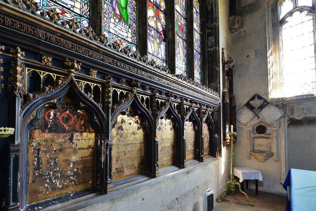North Marston, St. Mary's Church: Altar reredos