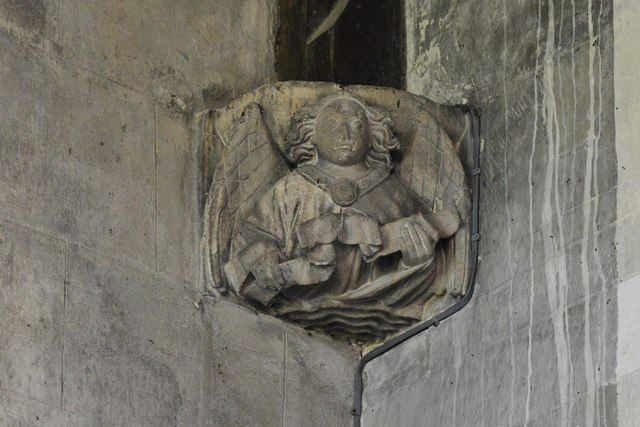 North Marston, St. Mary's Church: Roof corbel 1