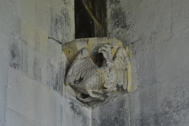 North Marston, St. Mary's Church: Roof corbel 3