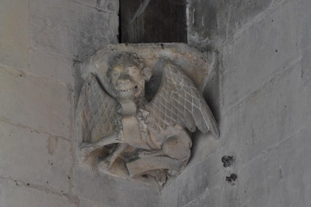 North Marston, St. Mary's Church: Roof corbel 4