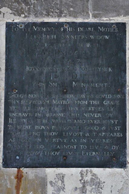 North Marston, St. Mary's Church: The Saunders memorial