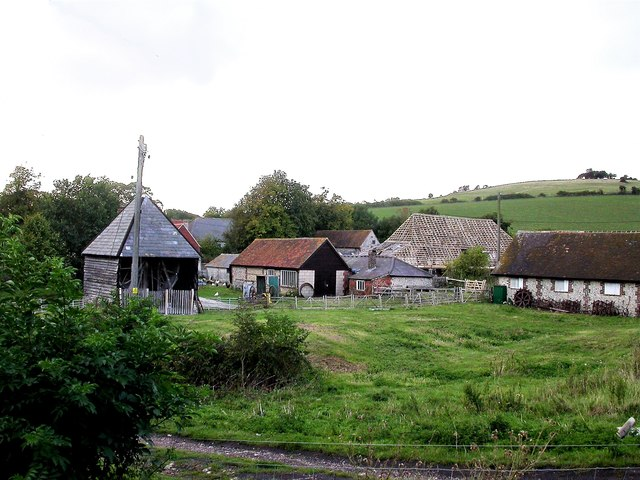The hamlet of Saddlescombe in the South Downs