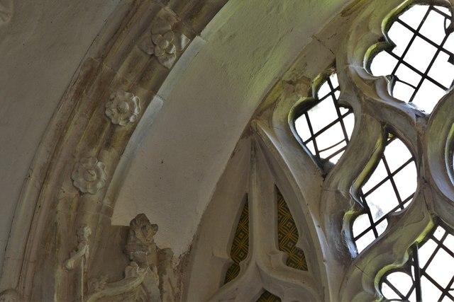 North Marston, St. Mary's Church: Shrine of John Schorne (d.1314) 3, Decorated window