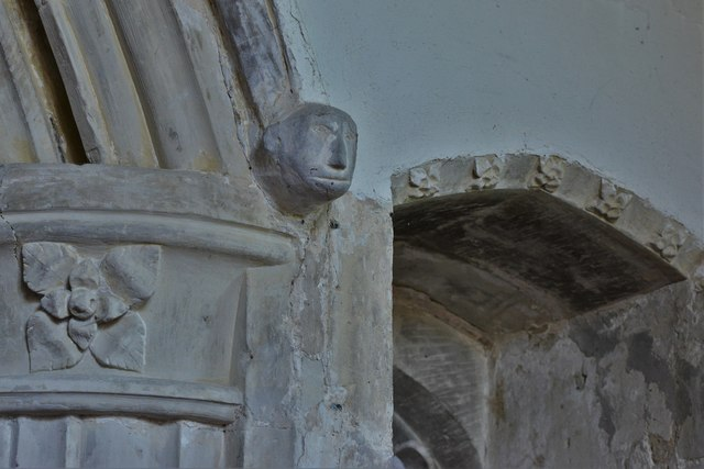 North Marston, St. Mary's Church: Nave column detail
