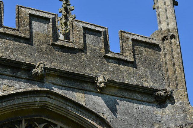 North Marston, St. Mary's Church: Tower corbels 1