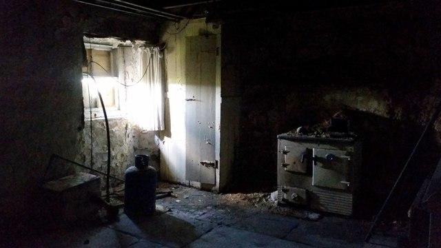Inside the house at Halligarth, Baltasound