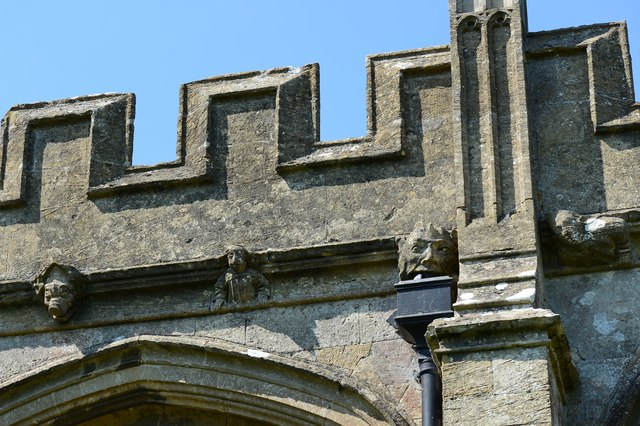North Marston, St. Mary's Church: Tower corbels 3