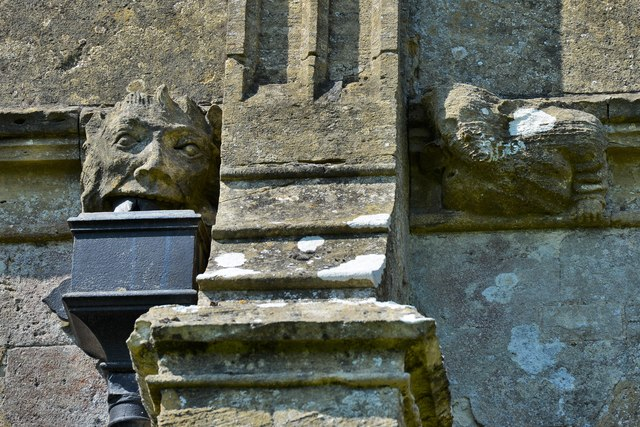 North Marston, St. Mary's Church: Tower corbels 4