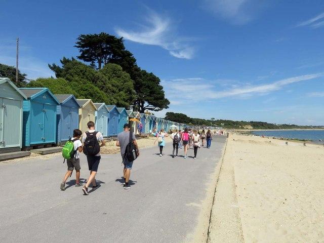 Beach huts by Avon Beach