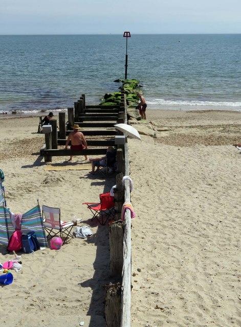 A groyne on Avon Beach