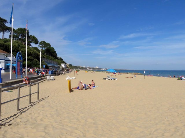 The beach at Branksome Chine