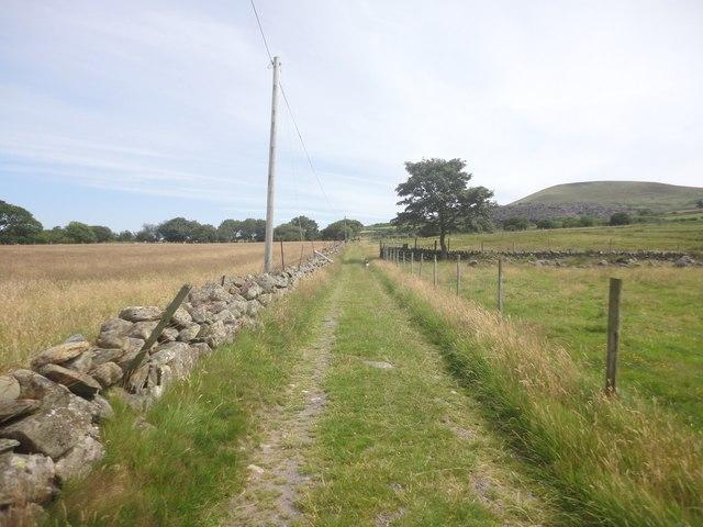 A wide footpath, Llanllechid