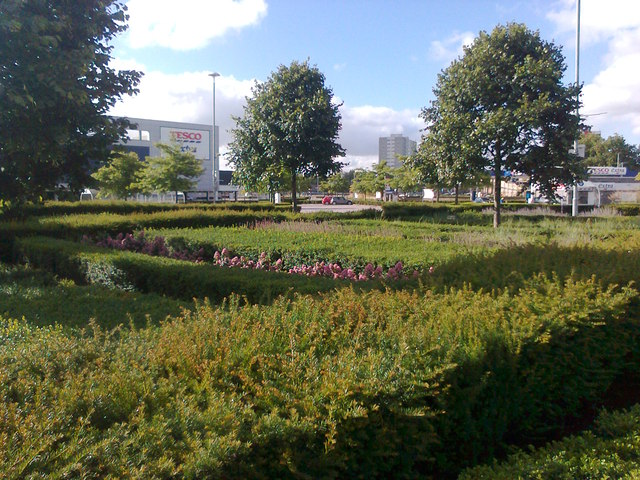 Landscaped gardens of St Stephens Shopping Centre