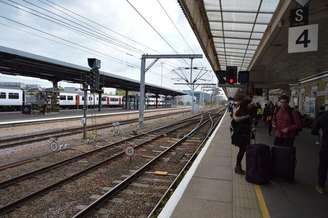 Platform 4, Cambridge Station