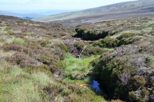 Gully in the peat near White Craig Hill