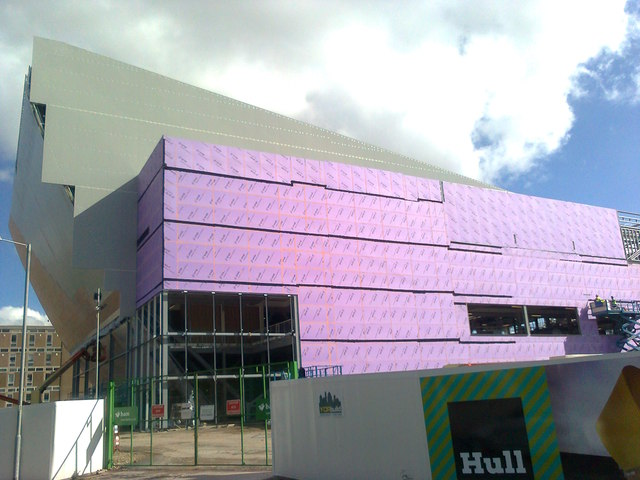 Pink insulation on Hull Venue