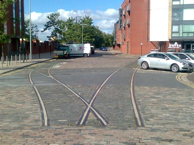 Railway lines on Wellington Street West