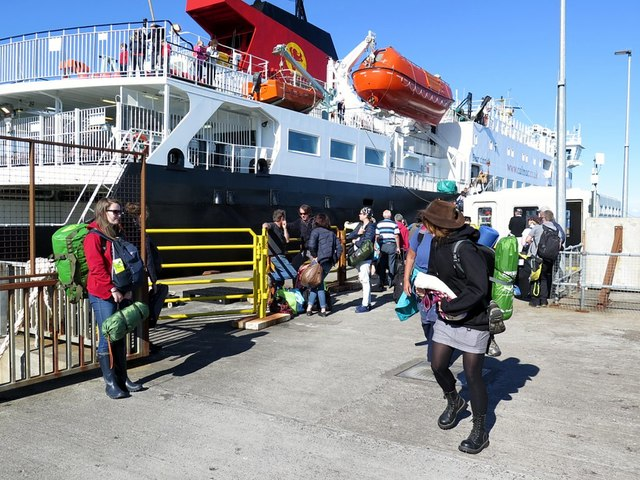 Arrival of the Oban Ferry, Scarinish, Tiree