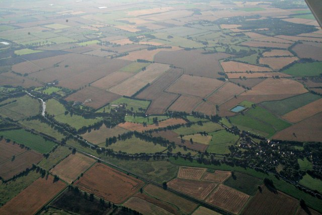 Horningsea and River Cam: aerial 2017