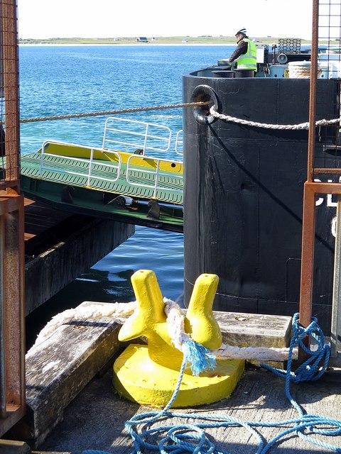 MV Clansman tied up at Scarinish Pier, Tiree
