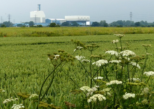 Farmland next to the River Nar