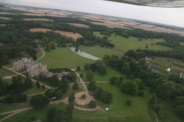 Audley End House and Audley Park: aerial 2017