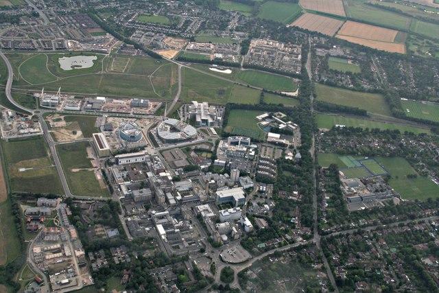 Addenbrooke's Hospital: aerial 2017 (2)