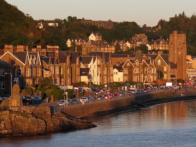 Corran Esplanade, Oban from evening ferry