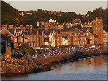 NM8530 : Corran Esplanade, Oban from evening ferry by Andrew Curtis