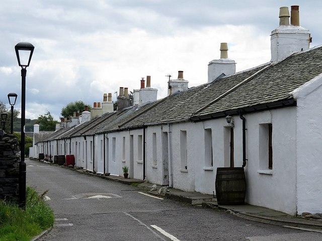 Cottages, Ellenabeich, Seil