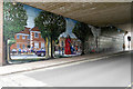 SU1429 : Milford Street Bridge Jubilee Mural by David Dixon