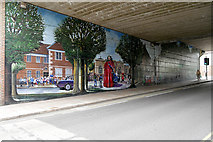 SU1429 : Milford Street Bridge Jubilee Mural by David Dixon