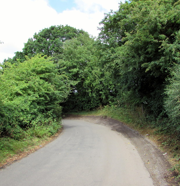 Bend in Nibley Lane, South Gloucestershire