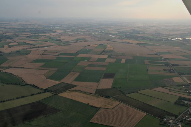 Across Adventurers' Fen and Lower Delphs towards Earith: aerial 2017