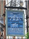 TQ3081 : Sign for The Enterprise, Red Lion Street, WC1 by Mike Quinn