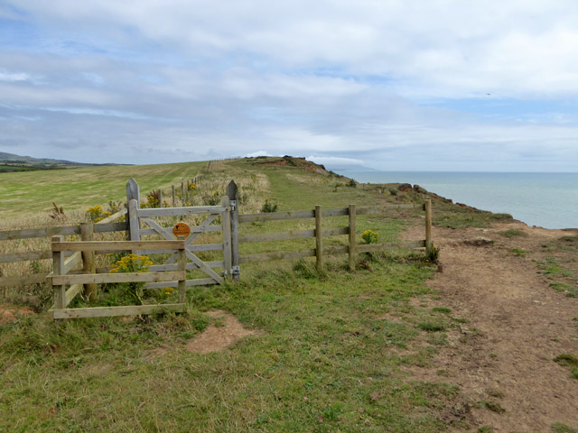 Pointless gate on coastal path