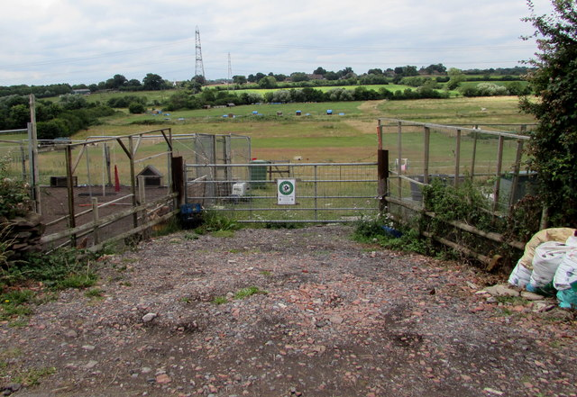 Field gate set back from Nibley Lane, South Gloucestershire