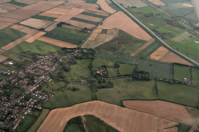 Sutton, Sutton Gault and the Hundred Foot Washes: aerial 2017