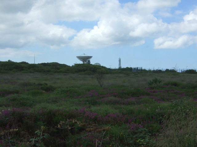Moorland towards Goonhilly Satellite Earth Station