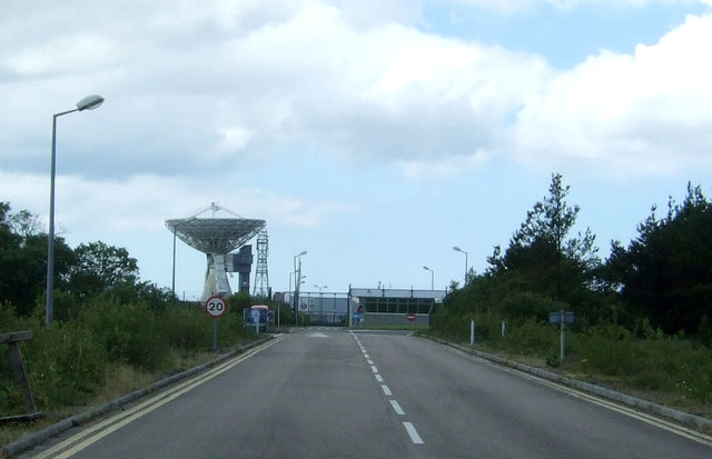 Road to Goonhilly Satellite Earth Station