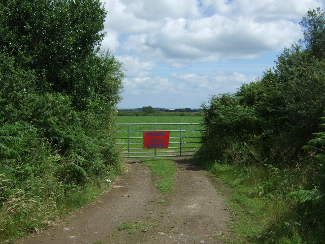 Gated field entrance off the B3293