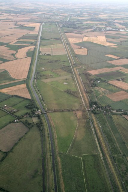Sutton Gault and the Hundred Foot Washes: aerial 2017