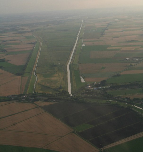 Rings End and the Nene Washes: aerial 2017