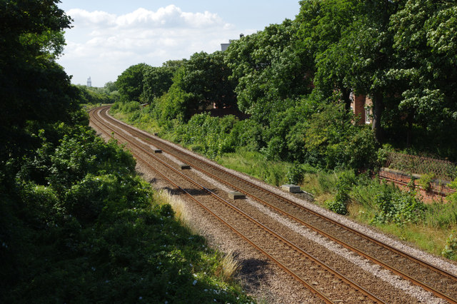 Railway west of Redcar