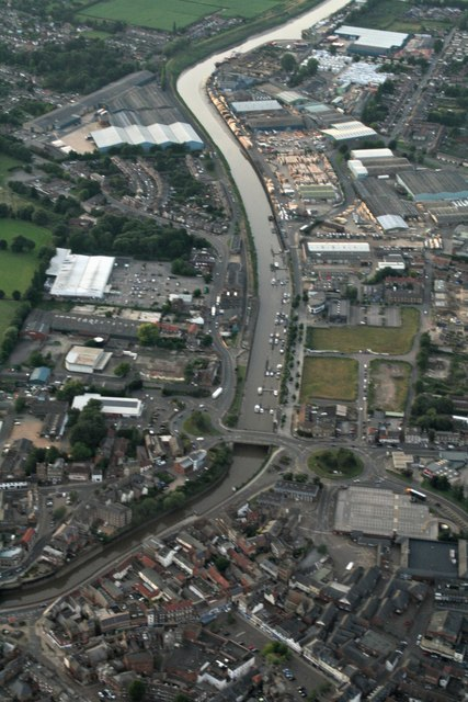 Wisbech north and Port of Wisbech: aerial 2017