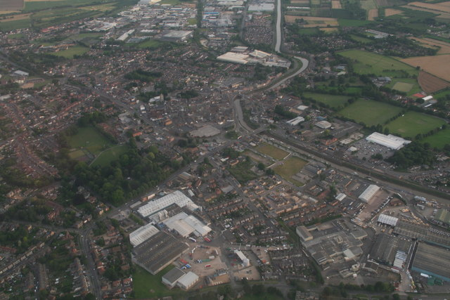 Wisbech from the north: aerial 2017
