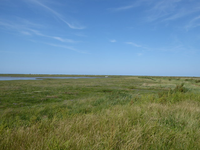 The Cley Channel and marshes